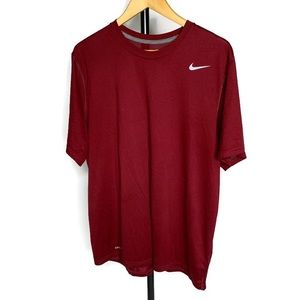 Nike Dri Fit Red Short Sleeve Tee Shirt Top